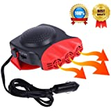 Portable Car Heater, Car Defroster Defogger, Heating Cooling Fan, 30 Seconds Fast Heating