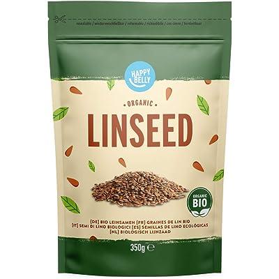 Marca Amazon -  Happy Belly Semillas de lino ecológicas 4 x 350gr