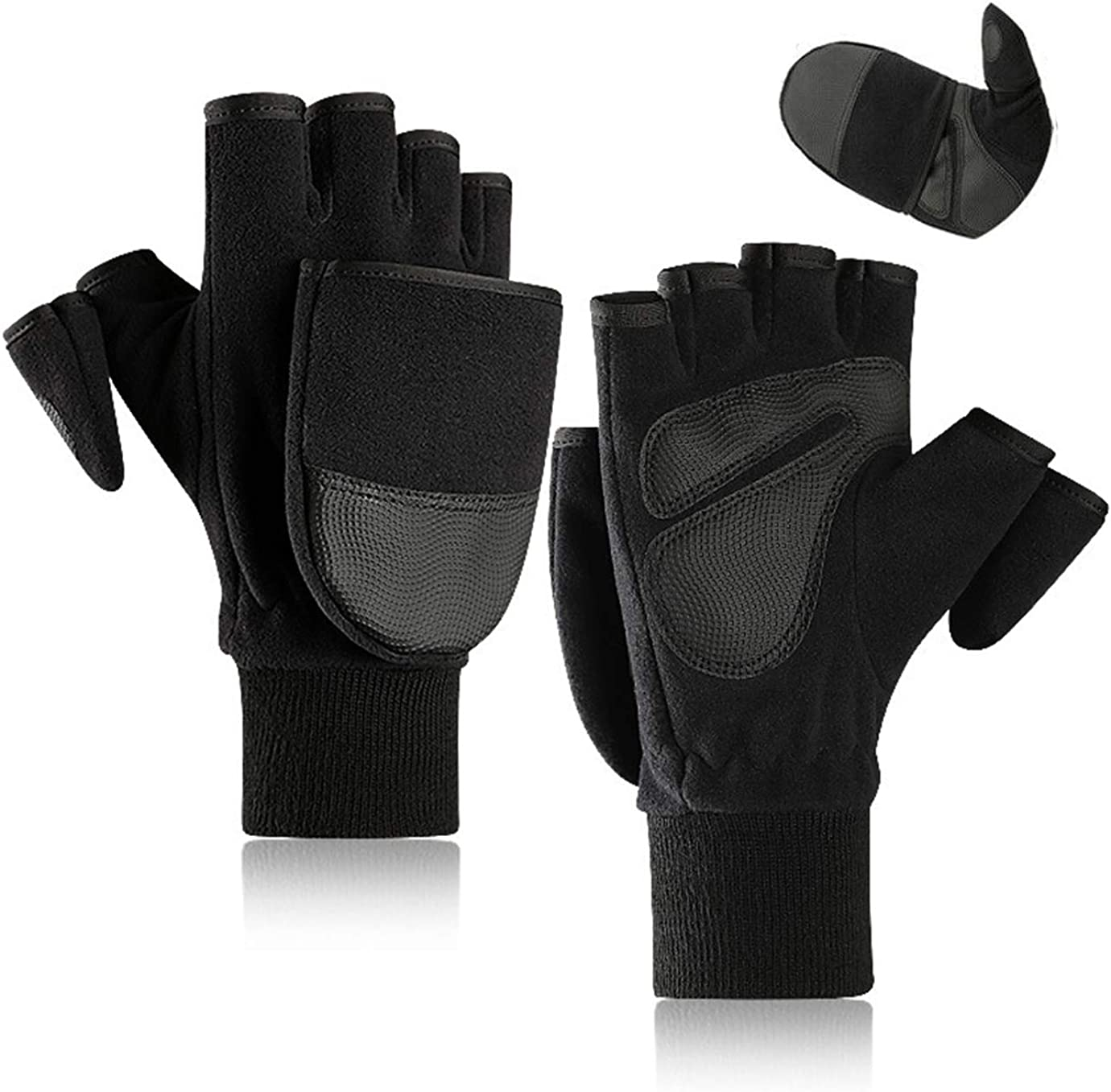 Sherpa Fleece Convertible Mitt//Shooters Glove Gloves Camping Hiking Outdoors