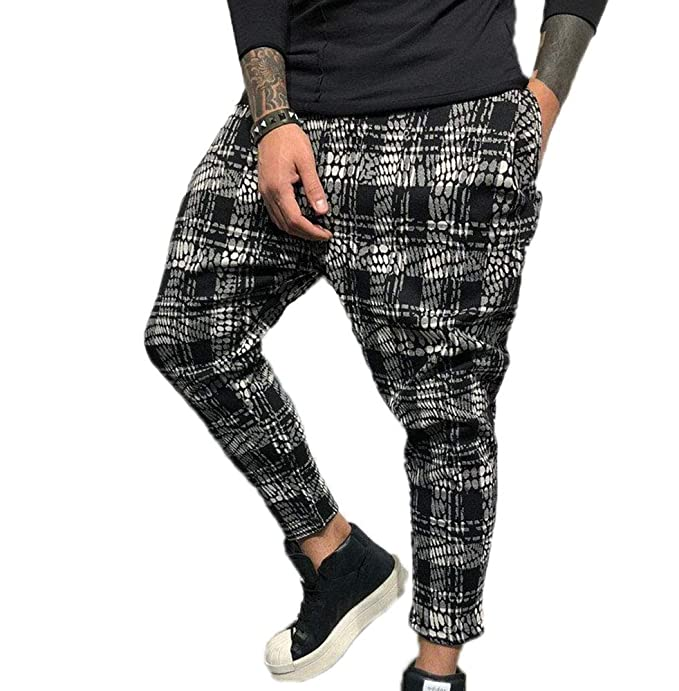 Pantaloni Casual Stampati digitali 3D da Uomo, Pantaloni da