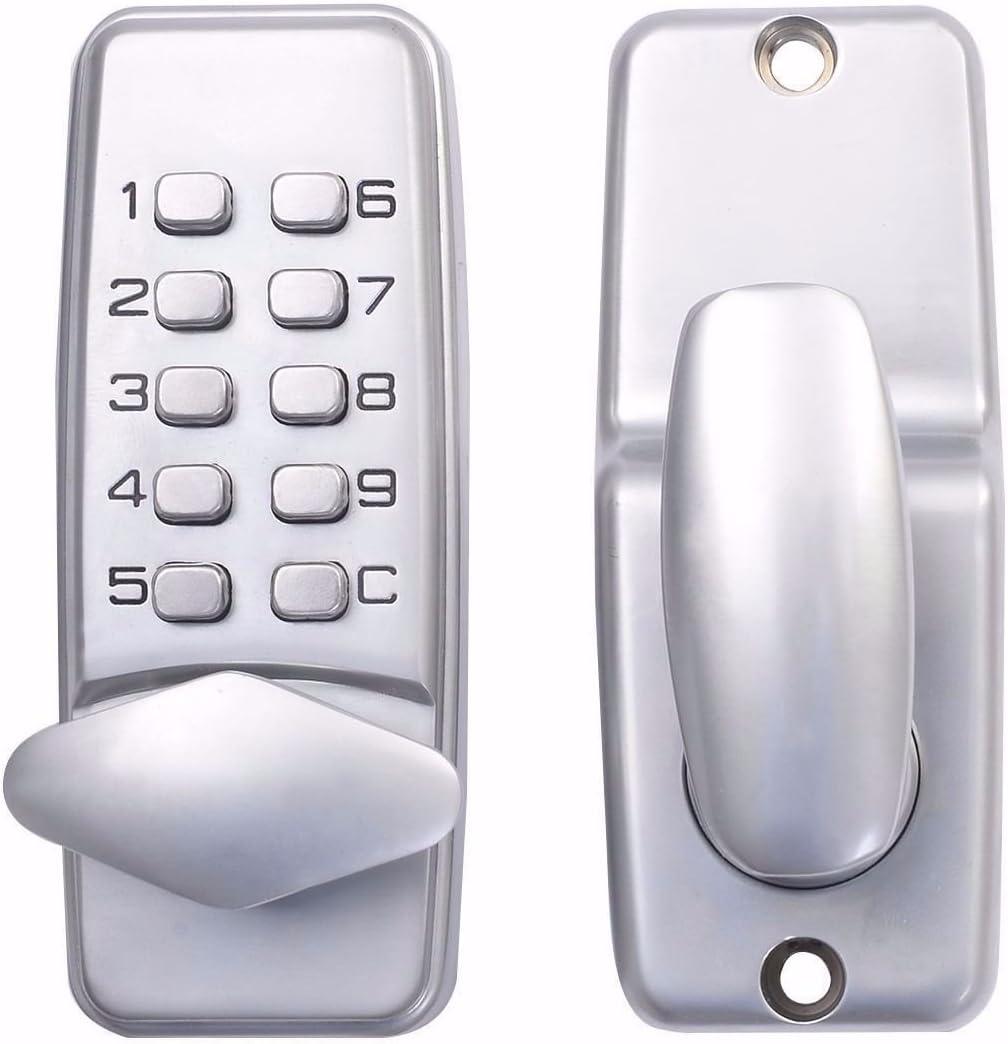 KIWIN Digital Mechanical Password Door Lock, Push Button Keypad Deadbolt Keyless Door Lock Knob for Home Security Safety