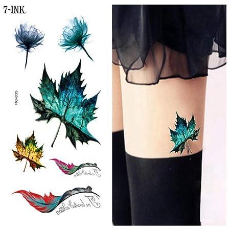 ljmljm 5pcs Impermeable Etiqueta engomada del Tatuaje accidente ...