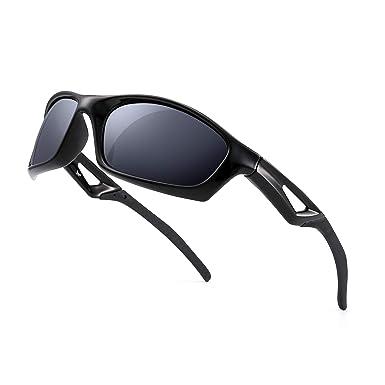 f3d6f51665d Polarized Sports Sunglasses Men Women Baseball Fishing Running Golf Cycling  Driving Shades (Black Polarized