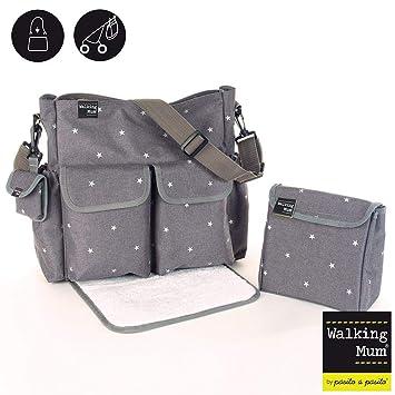 Walking Mum Gaby Winter - Bolsa canastilla, color gris