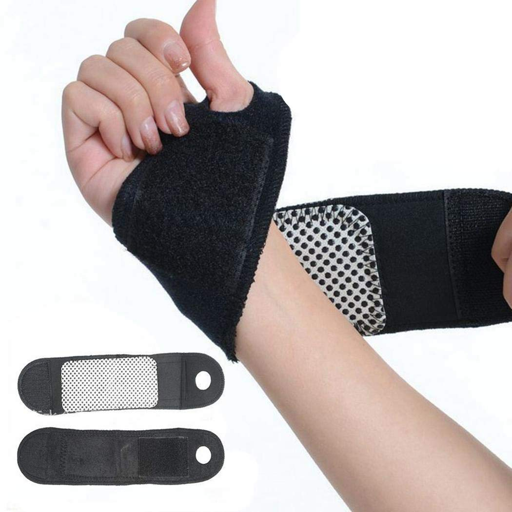 Magnetic Self-Heating Therapy Wristband, Self-Adhesive Sports Protection Belt Professional Wrist Pad Wrist Brace, Hand Protection Wrist Support Brace Protector Outdoor Indoor Accessories(1 Pair)