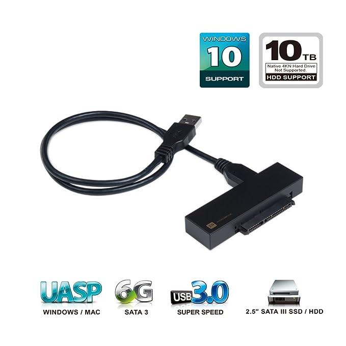 Mediasonic USB 3.0 A SATA de 2,5 pulgadas SSD y disco duro Cable ...