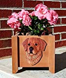 Golden Retriever Planter Flower Pot Dark