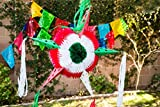 Paper Full of Wishes Handmade Star Piñata LA ESTRELA DE MEXICO - Tricolor (Red, White, Green) - Perfect for Parties, Events, Cinco de Mayo, Etc by For Decoration USE ONLY