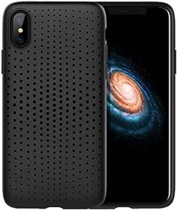 Rock iPhone X case, Dots design, Black