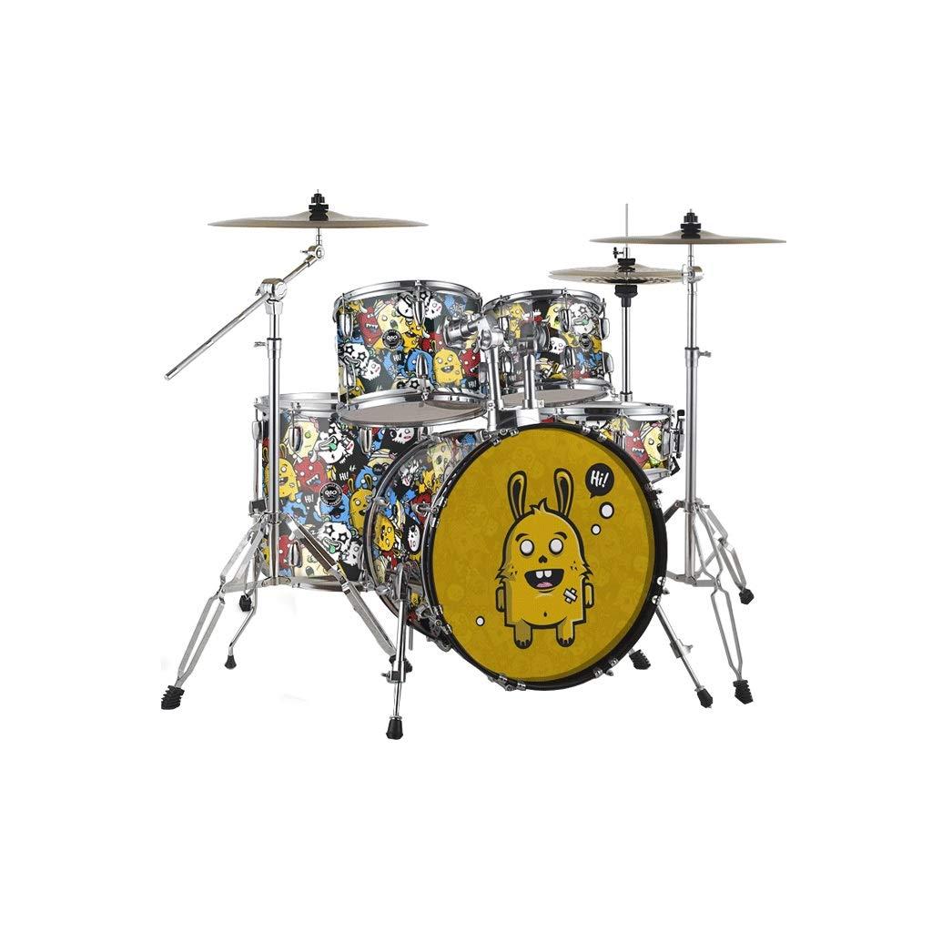 X-CAT Kindertrommeln Anfänger Einführung Jazz Drum Professional Spielen Percussion Für Erwachsene (Farbe   Monster, größe   S) Monster Medium