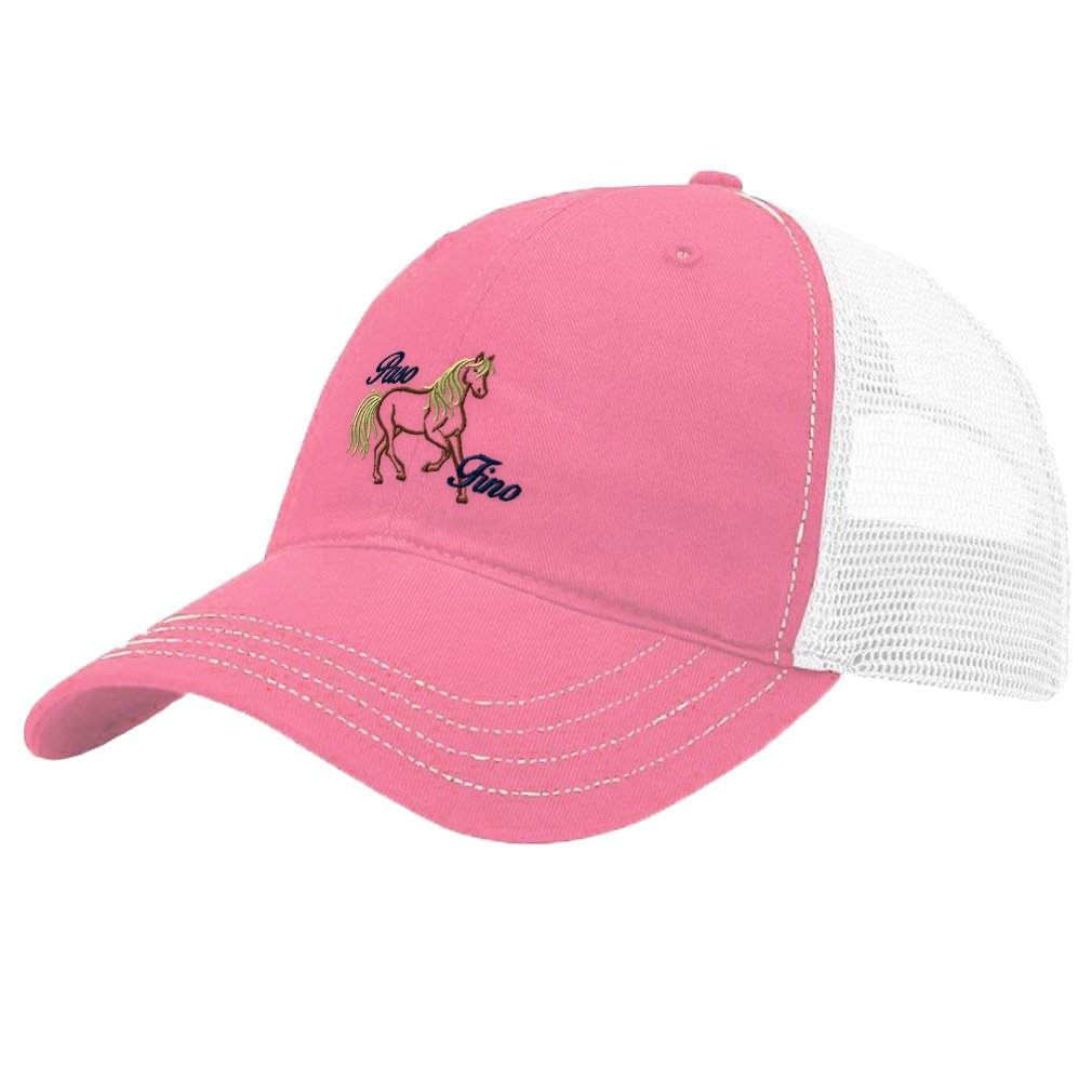 689edf7910d Amazon.com  Animal Horse Paso Fino Embroidery Richardson Front and Mesh  Back Cap Hat - Pink White  Clothing