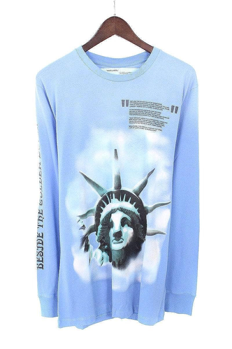 (オフホワイト) OFF-WHITE 【18AW】【BLUE LIBERTY L/S T-SHIRT】リバティープリント長袖カットソー(M/ブルー) B07FQ2SX4C