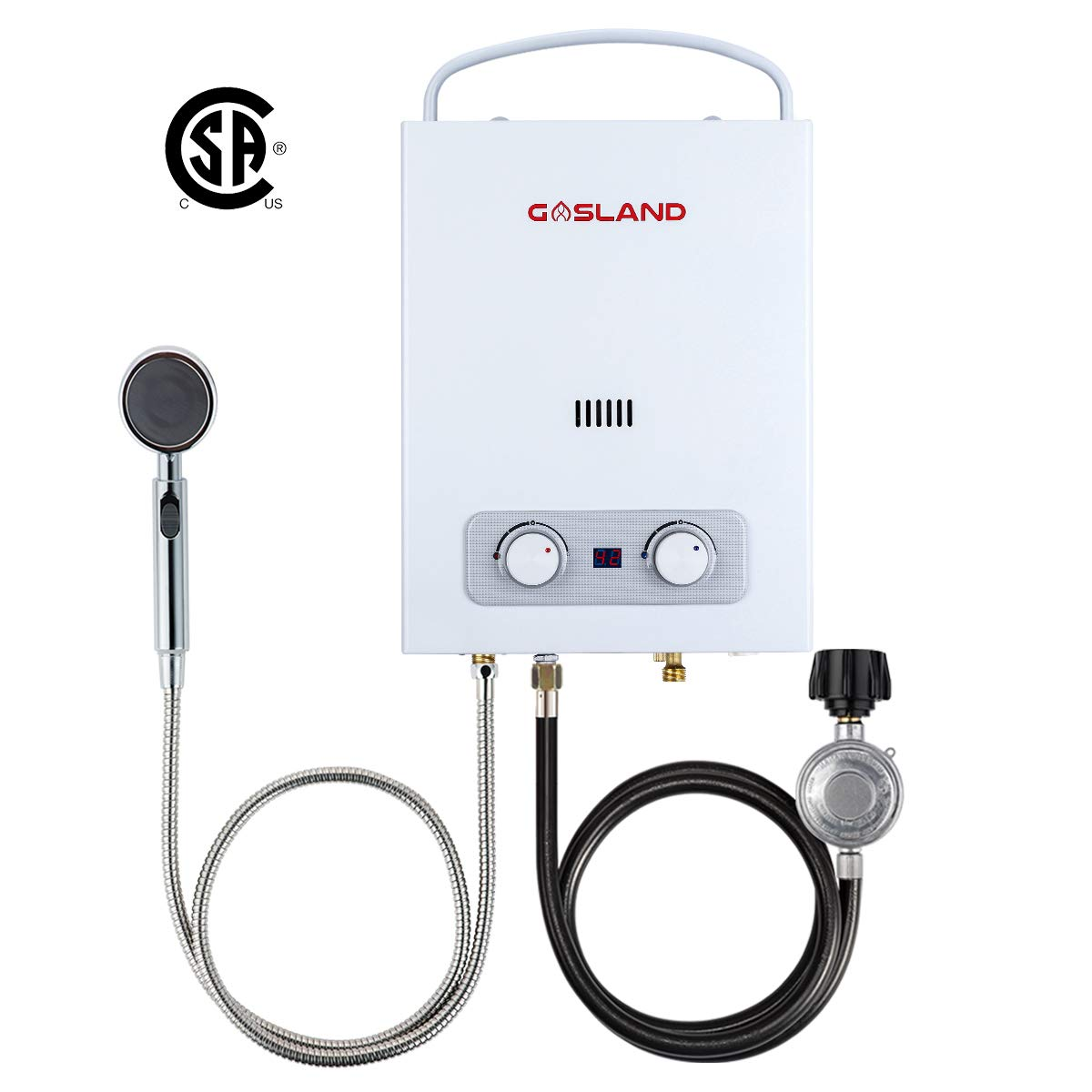 Tankless Water Heater, Gasland 1.5GPM 6L Outdoor Portable Gas Water Heater, Instant Hot Water Heater for RV Camping, Propane Water Heater, with Low Oxygen Flame Failure & Overheating Safety Protection