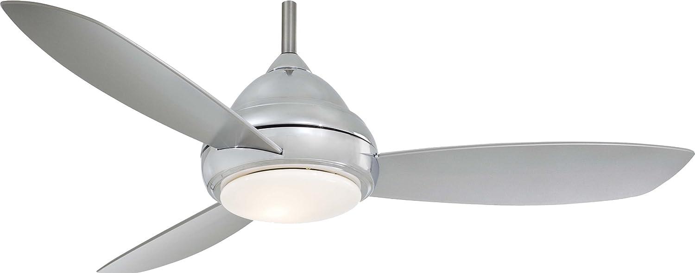 """(ミンカエア)Minka-Aire F517-PARENT Concept I シーリングファン 52インチ ライト&リモコン付き 52"""" シルバー F517L-PN B06XY826QW 52"""",Polished Nickel (LED Light)"""