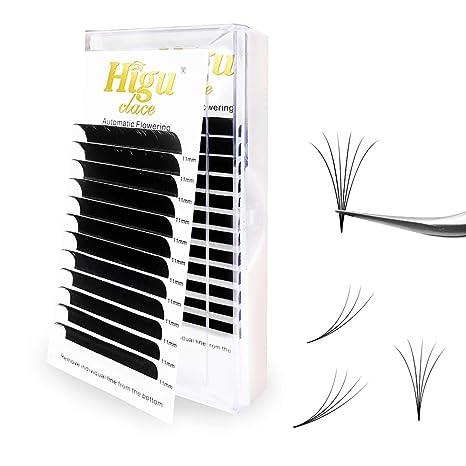 Rapid Volume Eyelash Extension 0.07 C Curl 12mm Easy Fan Rapid Blooming Lashes 3 D 4 D 5 D 6 D 10 D 20 D by Higuclace