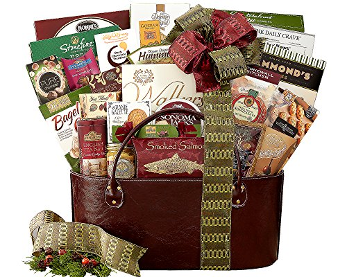 Gourmet Choice Gift Basket Baguettes, Salami, Chocolate, Hummus, Crackers, Smoked Salmon and more (Salmon Smoked Crackers)