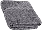 Cotton Bath Towels (Grey, 30 x 56 Inch) Luxury Bath Sheet Perfect for Home, Bathrooms, Pool and Gym Ringspun Cotton by Utopia Towels