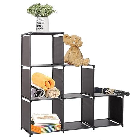 756a21160206 Amazon.com: Dporticus 3-Tier Storage Cube Closet Organizer Shelf 6 ...