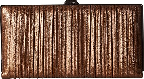 Lodis Pleasantly Pleated RFID Quinn Clutch Wallet (Copper) by Lodis
