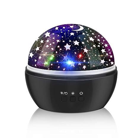 Proyector Lámpara Estrellas Luz de Noche, Powcan Romántica ...