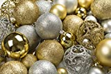 This Bulk Pack of 100 Christmas Tree Ornament Balls are the ideal ornaments to create your dream tree. It's the perfect holiday décor for home/office/party/commercial business etc. R N'D's shatterproof balls are the combination of beauty and ...