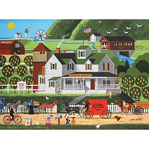 Bits and Pieces - 300 Large Piece Jigsaw Puzzle for Adults - Yummy Farms - 300 pc Americana Jigsaw by Artist Jack Allen