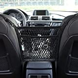 AMEIQ 2-Layer Car Mesh Organizer, Seat Back Net Bag, Barrier of Backseat Pet Kids, Cargo Tissue Purse Holder, Driver Storage Netting Pouch. (3 optional styles)