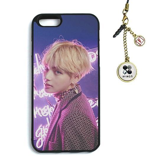 reputable site 5dcbc f747d Fanstown Kpop BTS Bangtan Boys iPhone 6/6s case Wings + Dust Plug Charm  (D16)