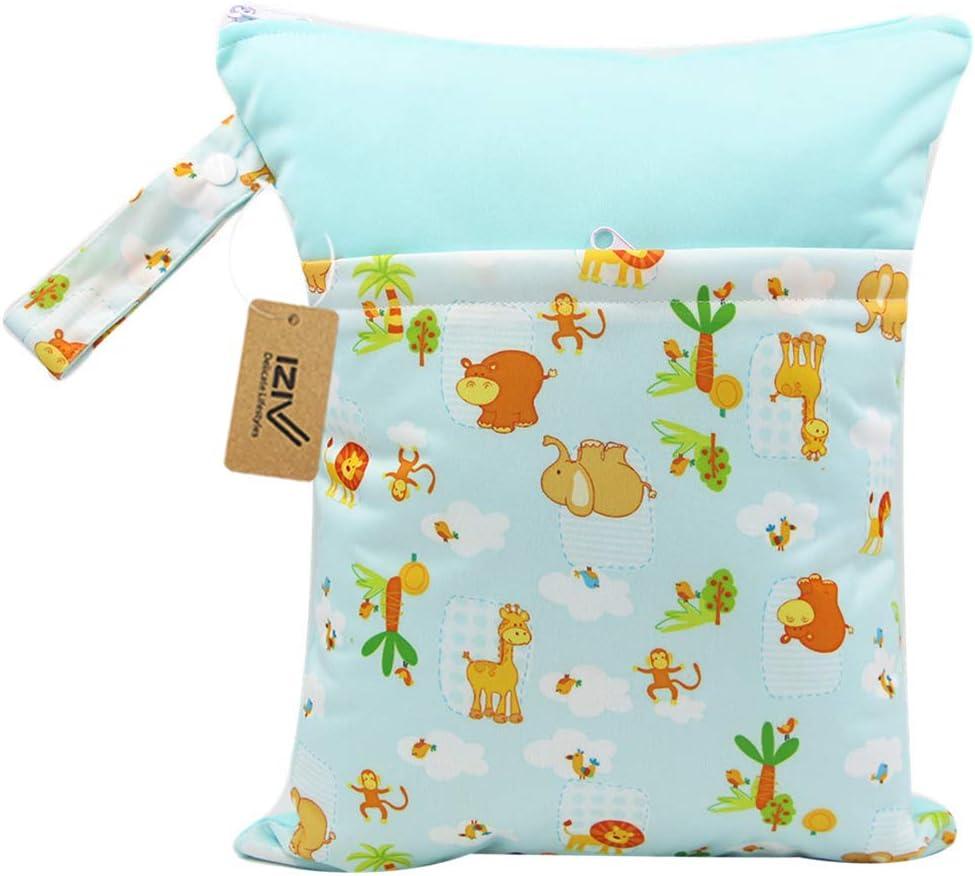 Reusable Wet Suit Bag iZiv Baby Waterproof Reusable Wet Dry Bag Waterproof Washable Hanging Large Diaper Bag Organizer Pouch Double Zipper Printing Diaper Bag Nappy Bag