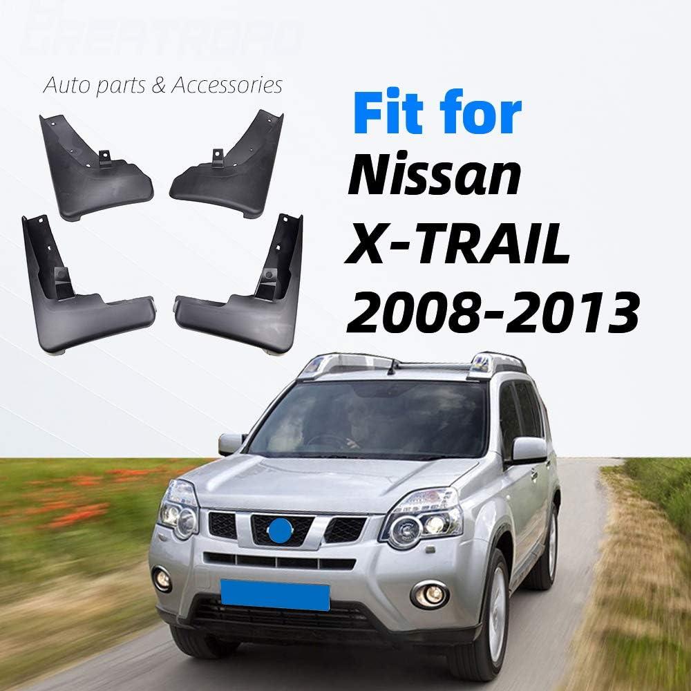 ZHAOHAOSC F/ür Nissan X-Trail T31 2008-2013 Xtrail Spritzschutz Schmutzf/änger Kotfl/ügel Kotfl/ügel 2009 2010 2011 2012 Set Moulded Car Mud Flaps