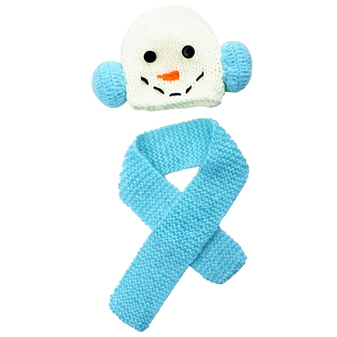 Homyl Baby Häkeln Fotokleidung Neugeborenes Hut Kostüm Winter