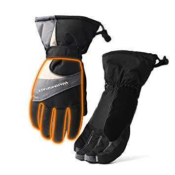 Heated Gloves Heating Palm And Five Fingers Hands Warmer Rechargealbe Battery Powered 4 6 Hrs