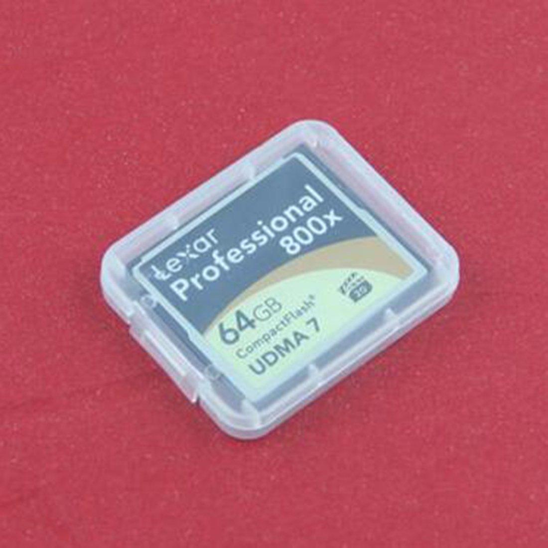 10 Pcs CF Card Box Memory Card Case Compact Flash Transparent Plastic Case Tools