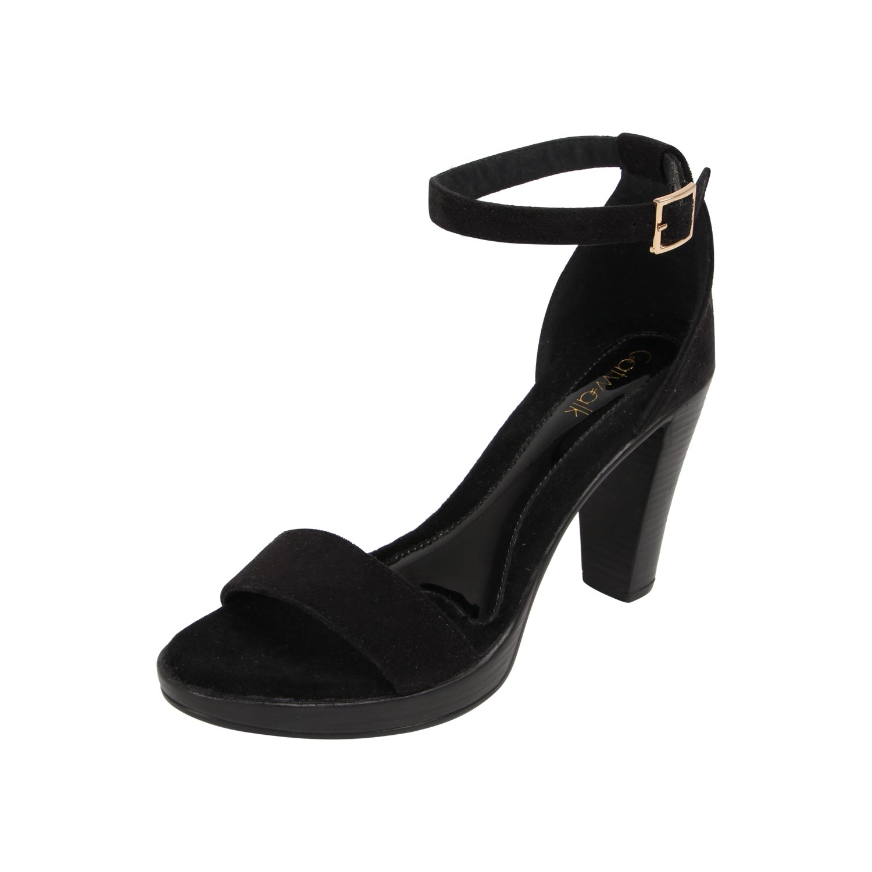 Buy Catwalk Black Leather Heeled