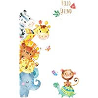 Cartoon Animals Warm Wall Stickers DIY Children Mural Decals for Kids Rooms Baby Bedroom Wardrobe Door Decoration