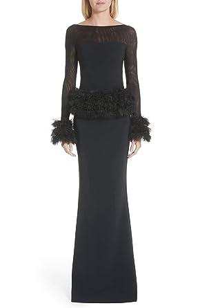 9ed47455e9d Chiara Boni La Petite Robe Bibina Trumpet Gown (38 2) Black at ...