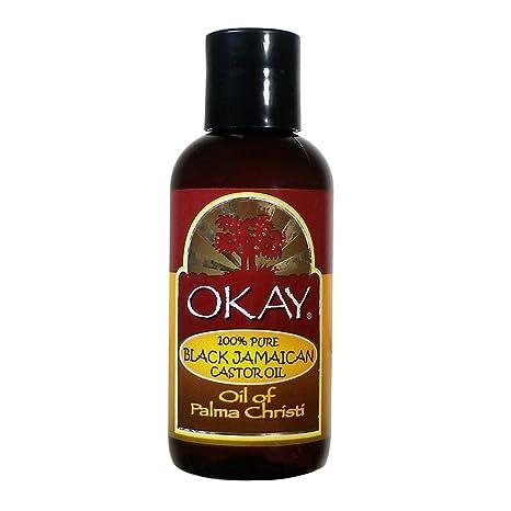 Amazon.com: Okay Negro Aceite de Ricino de Jamaica, 2 Onza ...