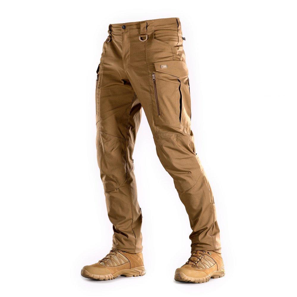 M-Tac Conquistador Flex - Tactical Pants Men - with Cargo Pockets (Coyote Brown, XL/L)