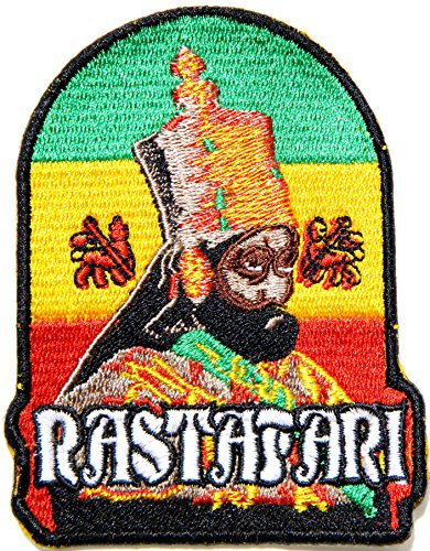 [JAH The Lion of Judah Rasta Rastasafari Jamaica Reggae Logo Jacket T shirt Patch Sew Iron on Embroidered Badge Sign Costume] (New Jersey Nets Jewelry)