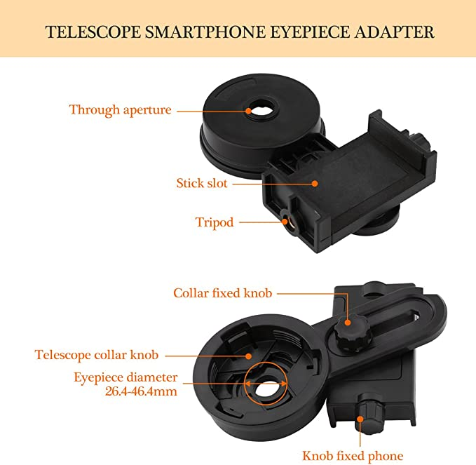 freebily Smartphone Adaptador ocular Universal Digiscoping Adapter ...
