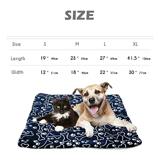 Amazon.com : Jim Hugh Winter Dog Bed Mat Pet Cushion Blanket Warm Paw Print Puppy Cat Fleece Beds for Small Large Dogs Cats Pad Chihuahua Cama Perro : Pet ...