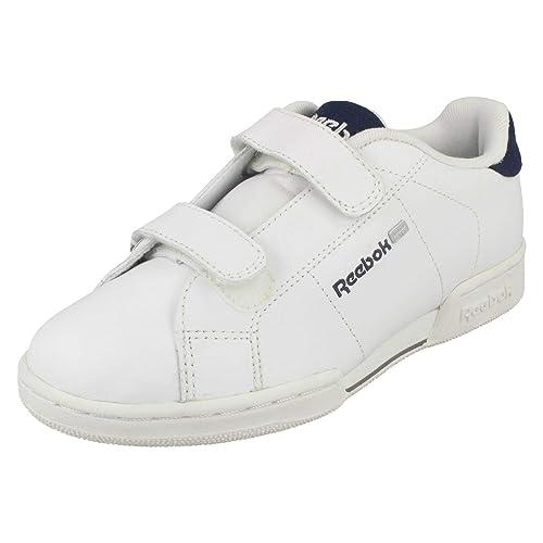 fd1a8e7d5 Niños Junior Reebok blanco Classisc Casual NPC II MATL de 2 V zapatillas  Niñas