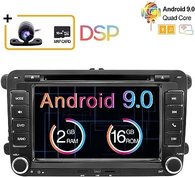 Radio estéreo para coche Android 9.0, 2Din, pantalla táctil HD de ...