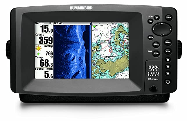Humminbird 898c SI Combo 7 Inch Waterproof Marine GPS And Chartplotter With Sounder
