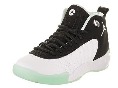 dd74c2873f16 Jordan Nike Kids Jumpman Pro (GS) Black Igloo Metallic Silver Basketball  Shoe 4.5