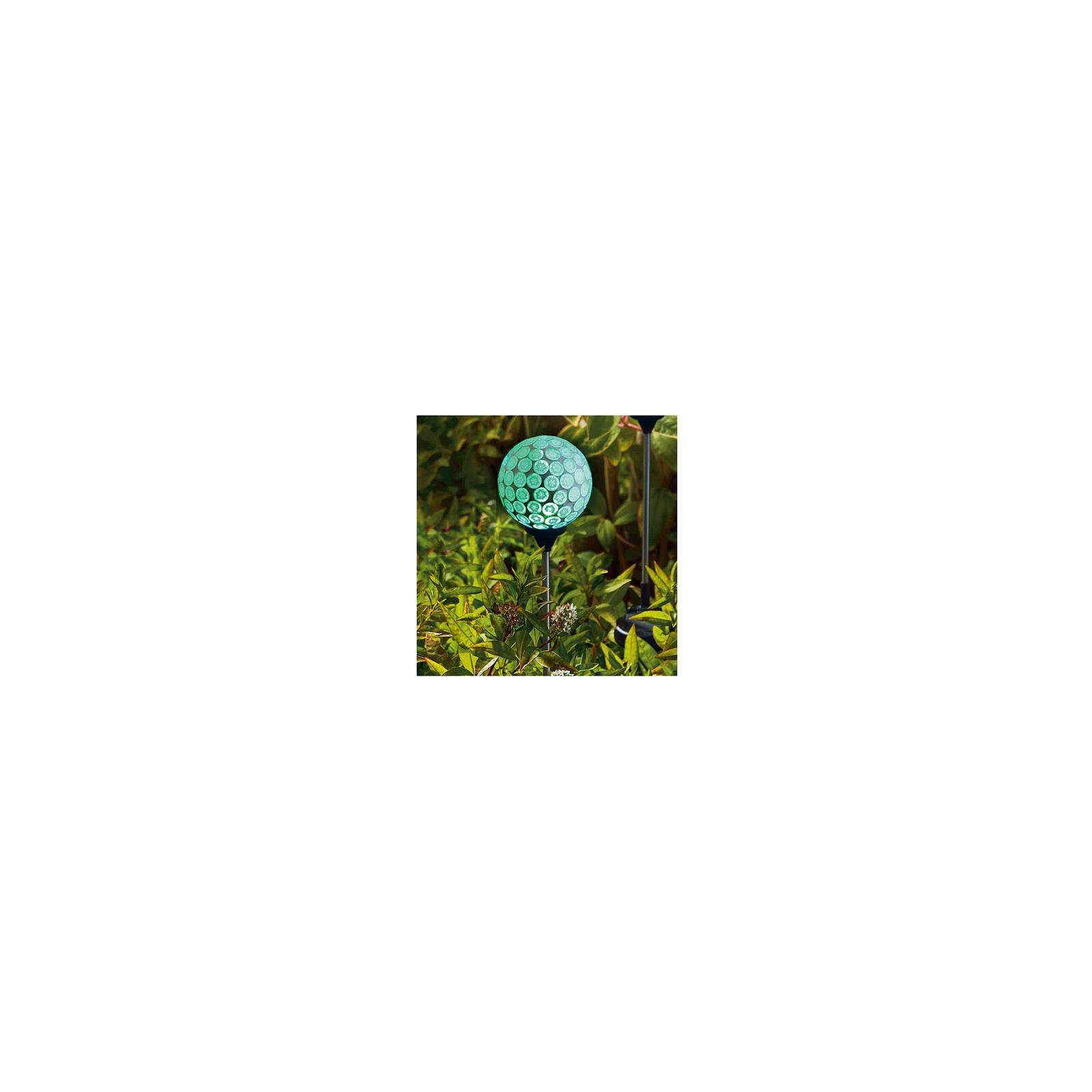 Forever Gifts S120901314-G LED Solar Stake Light, Mint Green Mosaic Sphere, 30-In. Height - Quantity 8