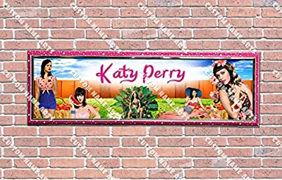 Personalized Customized Katy Perry Poster With Frame, With Your Name On It, Party Door Poster, Room Art Decoration, Wall Decor