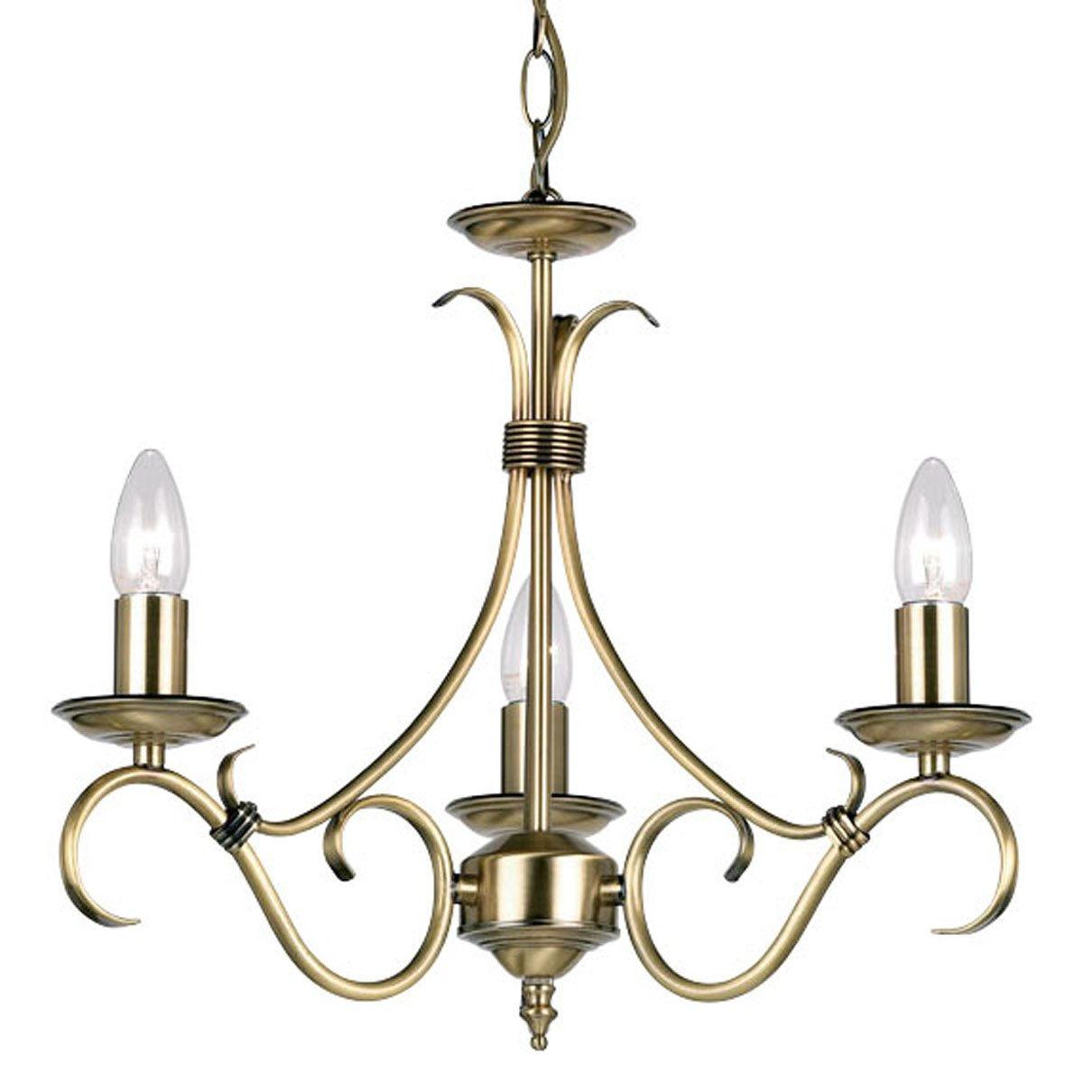 3 Light Candle Chandelier Endon
