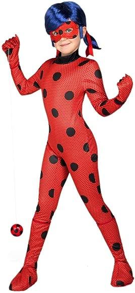 XINSH Disfraz Halloween Ladybug Niña Costume Cosplay Vestido para Carnaval Navidad Fiesta