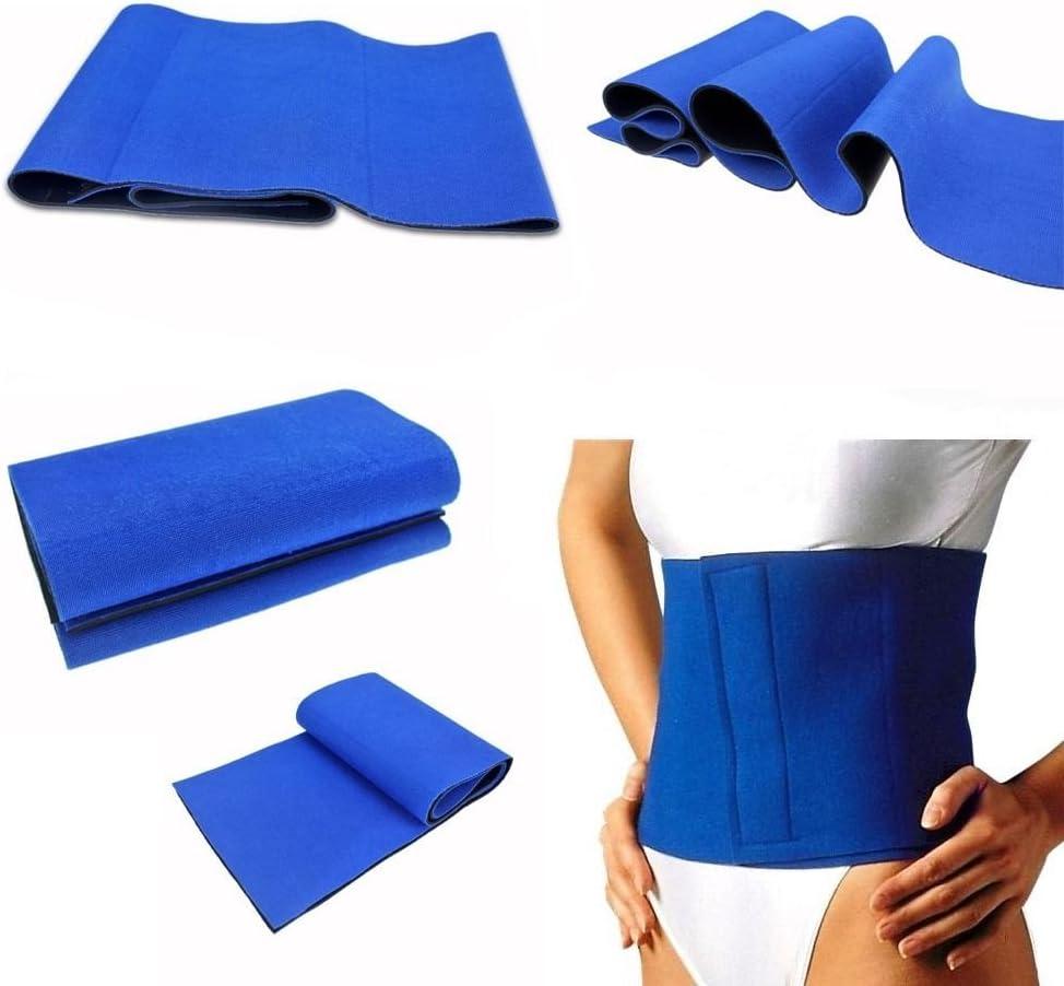 "One Size Fits Most 12/"" Exercise Slimming Neoprene Waist Belt Shaper Blue"